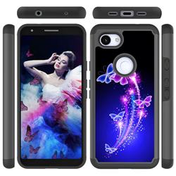 Dancing Butterflies Shock Absorbing Hybrid Defender Rugged Phone Case Cover for Google Pixel 3A