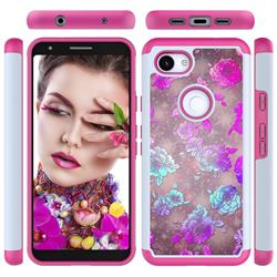 peony Flower Shock Absorbing Hybrid Defender Rugged Phone Case Cover for Google Pixel 3A