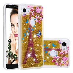 Golden Tower Dynamic Liquid Glitter Quicksand Soft TPU Case for Google Pixel 3A