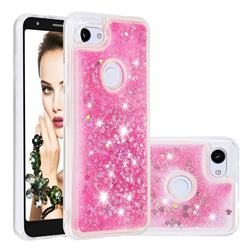 Dynamic Liquid Glitter Quicksand Sequins TPU Phone Case for Google Pixel 3A - Rose
