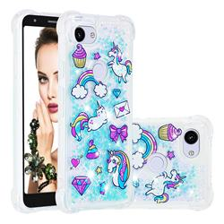 Fashion Unicorn Dynamic Liquid Glitter Sand Quicksand Star TPU Case for Google Pixel 3A