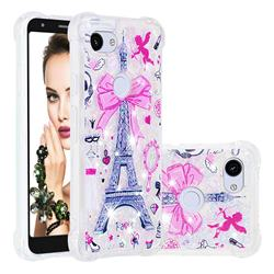 Mirror and Tower Dynamic Liquid Glitter Sand Quicksand Star TPU Case for Google Pixel 3A