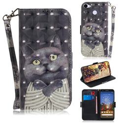 Cat Embrace 3D Painted Leather Wallet Phone Case for Google Pixel 3A
