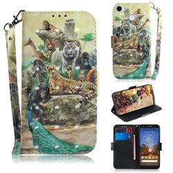Beast Zoo 3D Painted Leather Wallet Phone Case for Google Pixel 3A