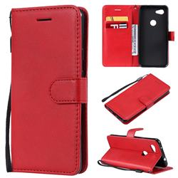 Retro Greek Classic Smooth PU Leather Wallet Phone Case for Google Pixel 3A - Red