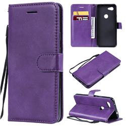 Retro Greek Classic Smooth PU Leather Wallet Phone Case for Google Pixel 3A - Purple
