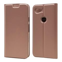 Ultra Slim Card Magnetic Automatic Suction Leather Wallet Case for Google Pixel 3A - Rose Gold