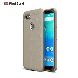 Luxury Auto Focus Litchi Texture Silicone TPU Back Cover for Google Pixel 3A XL - Gray