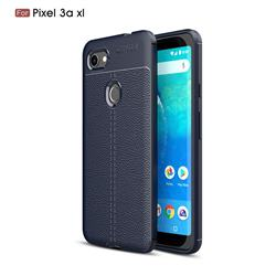Luxury Auto Focus Litchi Texture Silicone TPU Back Cover for Google Pixel 3A XL - Dark Blue