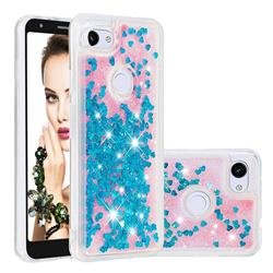 Dynamic Liquid Glitter Quicksand Sequins TPU Phone Case for Google Pixel 3A XL - Blue