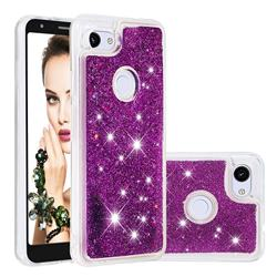 Dynamic Liquid Glitter Quicksand Sequins TPU Phone Case for Google Pixel 3A XL - Purple