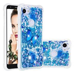 Flower Butterfly Dynamic Liquid Glitter Sand Quicksand Star TPU Case for Google Pixel 3A XL