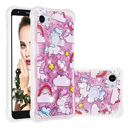 Angel Pony Dynamic Liquid Glitter Sand Quicksand Star TPU Case for Google Pixel 3A XL