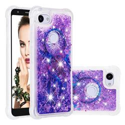Retro Wind Chimes Dynamic Liquid Glitter Sand Quicksand Star TPU Case for Google Pixel 3A XL