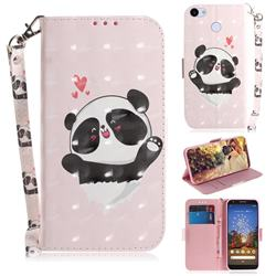 Heart Cat 3D Painted Leather Wallet Phone Case for Google Pixel 3A XL