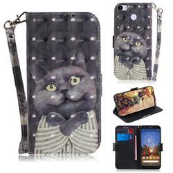 Cat Embrace 3D Painted Leather Wallet Phone Case for Google Pixel 3A XL
