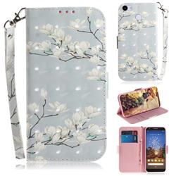 Magnolia Flower 3D Painted Leather Wallet Phone Case for Google Pixel 3A XL