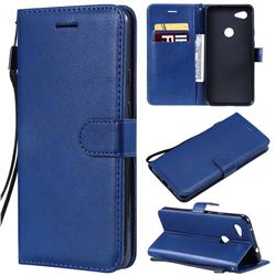 Retro Greek Classic Smooth PU Leather Wallet Phone Case for Google Pixel 3A XL - Blue