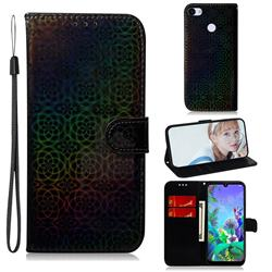 Laser Circle Shining Leather Wallet Phone Case for Google Pixel 3A XL - Black