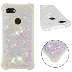 Dynamic Liquid Glitter Sand Quicksand Star TPU Case for Google Pixel 3 XL - Pink