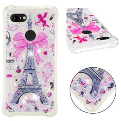 Mirror and Tower Dynamic Liquid Glitter Sand Quicksand Star TPU Case for Google Pixel 3 XL