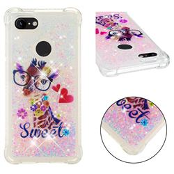 Sweet Deer Dynamic Liquid Glitter Sand Quicksand Star TPU Case for Google Pixel 3 XL