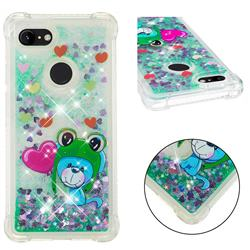 Heart Frog Lion Dynamic Liquid Glitter Sand Quicksand Star TPU Case for Google Pixel 3 XL