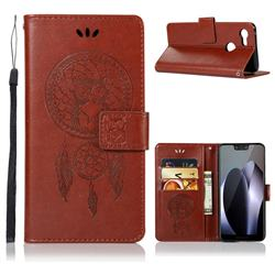 Intricate Embossing Owl Campanula Leather Wallet Case for Google Pixel 3 XL - Brown
