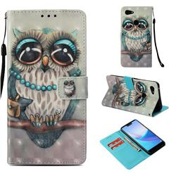 Sweet Gray Owl 3D Painted Leather Wallet Case for Google Pixel 3 XL