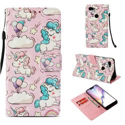 Angel Pony 3D Painted Leather Wallet Case for Google Pixel 3 XL