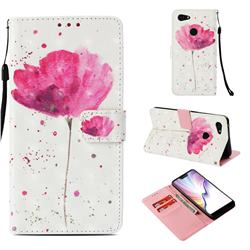 Watercolor 3D Painted Leather Wallet Case for Google Pixel 3 XL