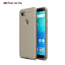 Luxury Auto Focus Litchi Texture Silicone TPU Back Cover for Google Pixel 3 XL Lite - Gray