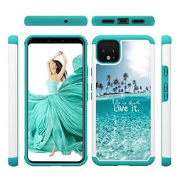 Sea and Tree Shock Absorbing Hybrid Defender Rugged Phone Case Cover for Google Pixel 4
