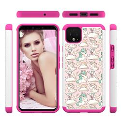 Pink Pony Shock Absorbing Hybrid Defender Rugged Phone Case Cover for Google Pixel 4