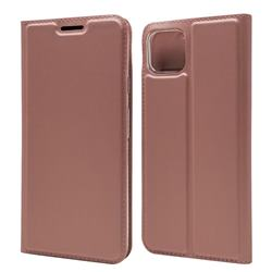 Ultra Slim Card Magnetic Automatic Suction Leather Wallet Case for Google Pixel 4 - Rose Gold