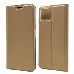 Ultra Slim Card Magnetic Automatic Suction Leather Wallet Case for Google Pixel 4 - Champagne