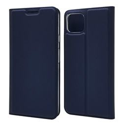 Ultra Slim Card Magnetic Automatic Suction Leather Wallet Case for Google Pixel 4 - Royal Blue