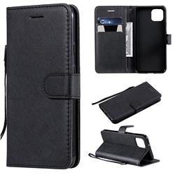 Retro Greek Classic Smooth PU Leather Wallet Phone Case for Google Pixel 4 - Black