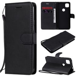 Retro Greek Classic Smooth PU Leather Wallet Phone Case for Google Pixel 4a - Black