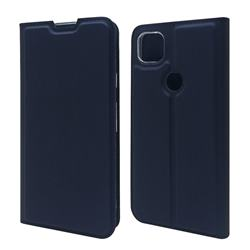 Ultra Slim Card Magnetic Automatic Suction Leather Wallet Case for Google Pixel 4a - Royal Blue