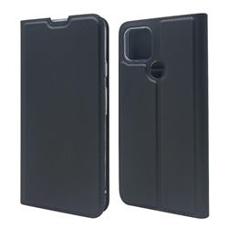 Ultra Slim Card Magnetic Automatic Suction Leather Wallet Case for Google Pixel 4a 5G - Star Grey