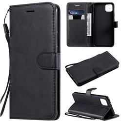 Retro Greek Classic Smooth PU Leather Wallet Phone Case for Google Pixel 4 XL - Black