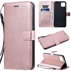 Retro Greek Classic Smooth PU Leather Wallet Phone Case for Google Pixel 4 XL - Rose Gold
