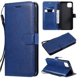 Retro Greek Classic Smooth PU Leather Wallet Phone Case for Google Pixel 4 XL - Blue