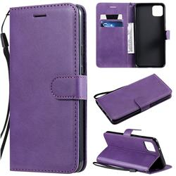 Retro Greek Classic Smooth PU Leather Wallet Phone Case for Google Pixel 4 XL - Purple