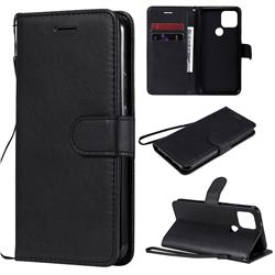 Retro Greek Classic Smooth PU Leather Wallet Phone Case for Google Pixel 5 - Black