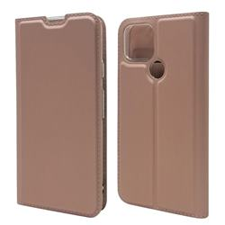 Ultra Slim Card Magnetic Automatic Suction Leather Wallet Case for Google Pixel 5 - Rose Gold