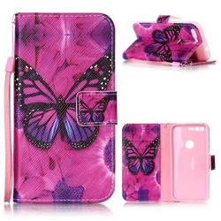 Black Butterfly Leather Wallet Phone Case for Google Pixel XL