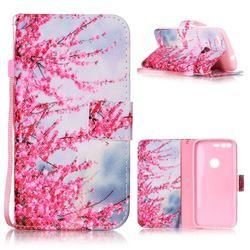 Plum Flower Leather Wallet Phone Case for Google Pixel XL