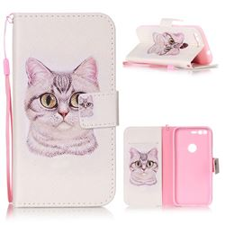 Lovely Cat Leather Wallet Phone Case for Google Pixel XL